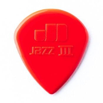 Dunlop Jim Dunlop 47P3N Jazz III Red Picks - 6 pack