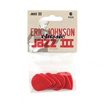 Dunlop Jim Dunlop 47PEJ3N Eric Johnson Classic Jazz III Player's Guitar Picks (Pack of 6)