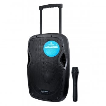 Kam RZ10A Portable PA Speaker with Bluetooth and Wireless Microphone