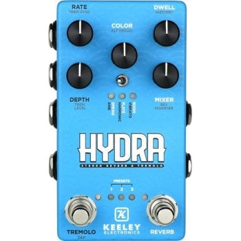 Keeley Hydra Stereo Reverb and Tremolo Pedal