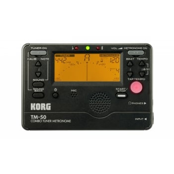 Korg TM50 Tuner and Metronome (Black)