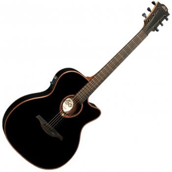 Lag T100ASCE Tramontane Electro-Acoustic Guitar - Black