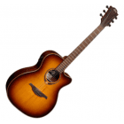 LAG T118ACE- BRS Auditorium Cutaway Electro-Acoustic Guitar, Brown Shadow