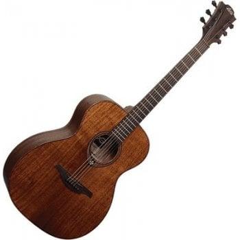 Lag T98A Tramontane Acoustic Guitar - Natural Mahogany