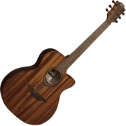 Lag T98ACE All Mahogany Auditorium Electro-Acoustic Guitar - Natural