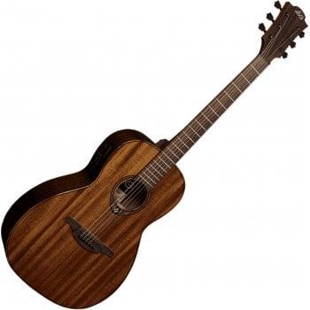 Lag T98PE Tramontane Electro-Acoustic Parlour Guitar - Natural