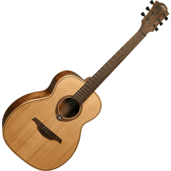 Lag TRAVEL-RC Tramontane Travel Guitar - Red Cedar - Case Included