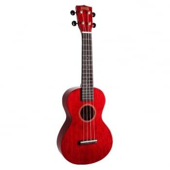 Mahalo Concert Ukulele MH2-TWR (Transparent Red) with FREE Gig Bag