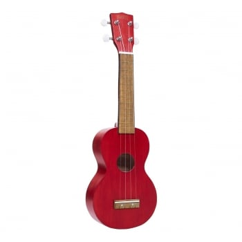 Mahalo MK1 Soprano Ukulele Transparent Red with Free Gigbag
