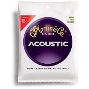 Martin 80/20 Bronze M140 Acoustic Guitar Strings 12-54 Light