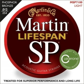 Martin MSP7100 Phosphor Bronze Acoustic Guitar Strings 12 - 54