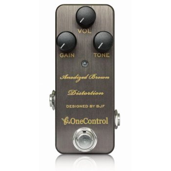 One Control Anodized Brown Distortion Pedal - Designed By BJF