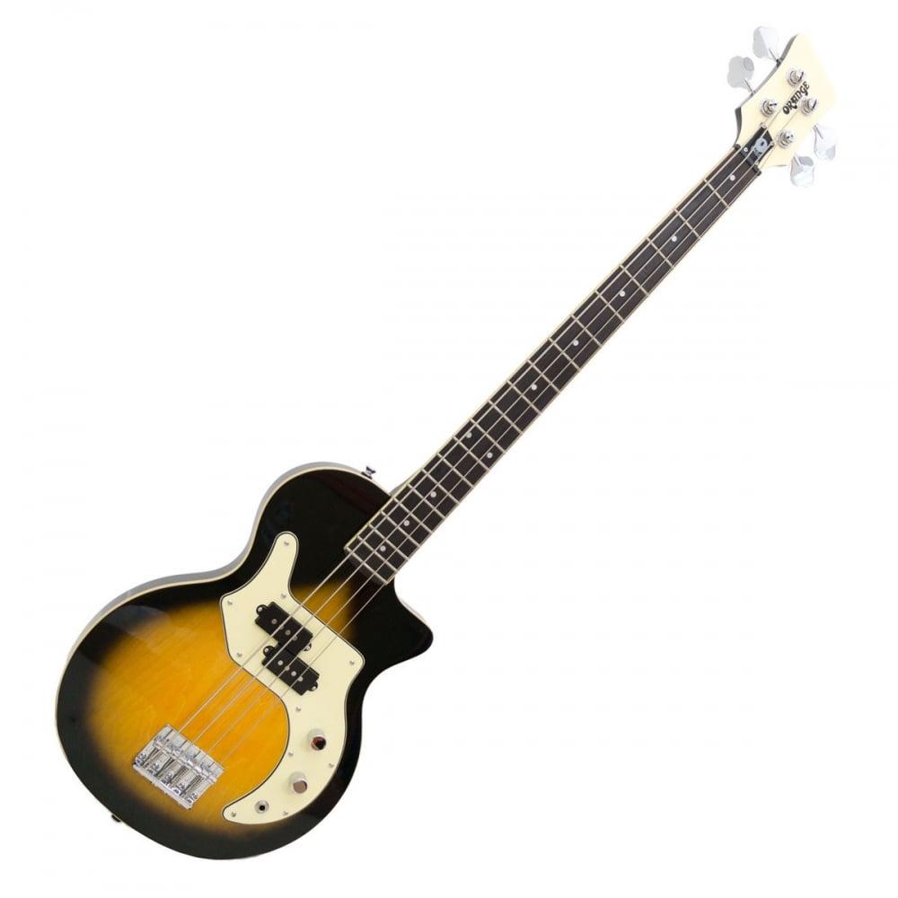 orange o bass 4 string electric bass guitar in sunburst. Black Bedroom Furniture Sets. Home Design Ideas