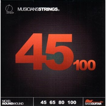 Picato MusiciansStrings 45-100 Nickel Roundwound Long Scale Bass Guitar Strings