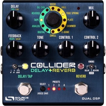 Source Audio Collider Stereo Delay + Reverb Pedal