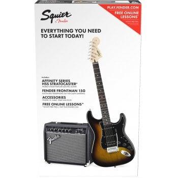 Fender Squier by Fender Affinity Series Stratocaster HSS Pack - Brown Sunburst