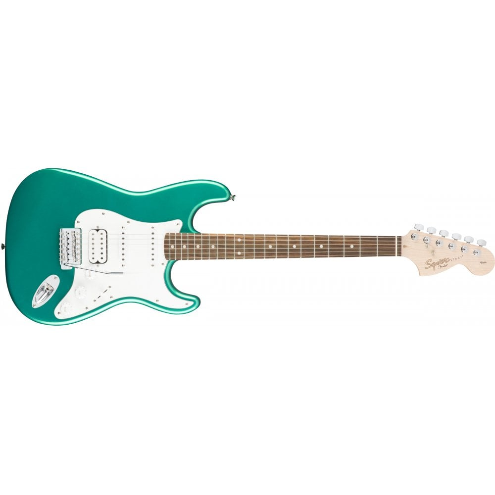 squier affinity series stratocaster hss rosewood fingerboard race green. Black Bedroom Furniture Sets. Home Design Ideas