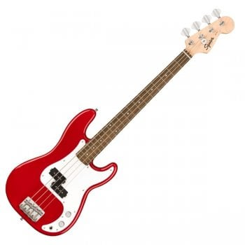 Squier Mini Precision Bass in Dakota Red with Laurel Fingerboard