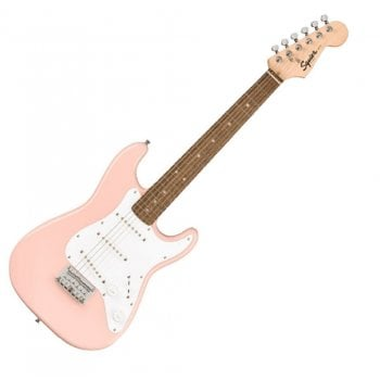 Squier Mini Strat 3/4 Size Electric Guitar - Shell Pink