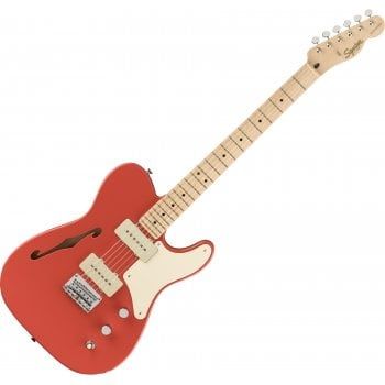 Squier Paranormal Carbronita Telecaster Thinline, Maple Fingerboard, Fiesta Red