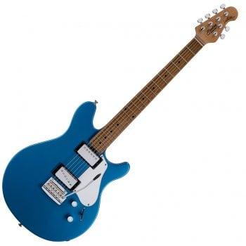 Sterling by Music Man JV60T Valentine Tremolo Electric Guitar, Toluca Lake Blue