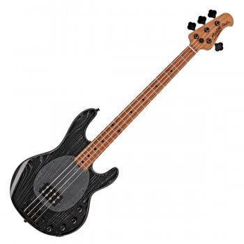 Sterling by Music Man Stingray Ray34 Bass Guitar, Roasted Maple Neck, Ash Black