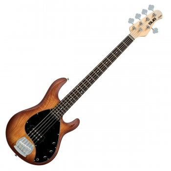 Sterling by Music Man Sub Ray5 Stingray Bass Guitar - Honey Burst Satin