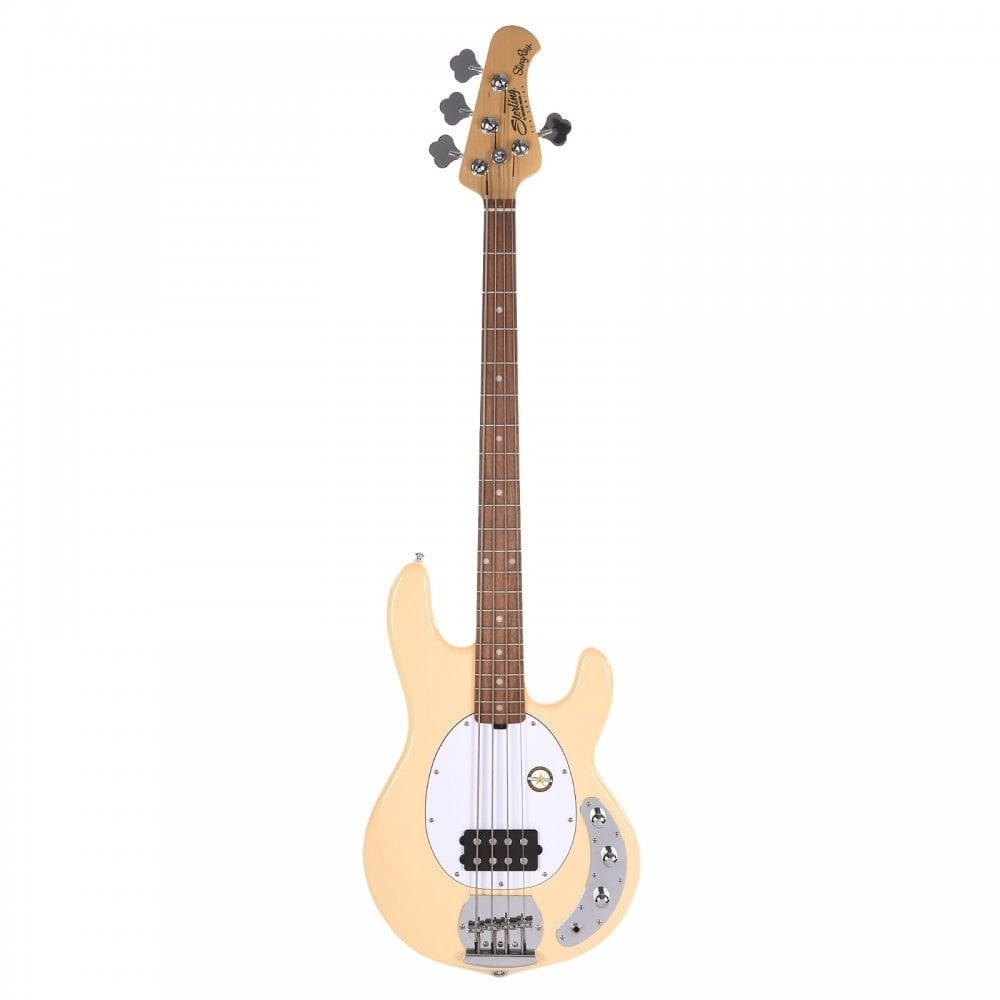 sterling by musicman stingray ray4 active electric bass guitar vintage cream. Black Bedroom Furniture Sets. Home Design Ideas