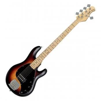 Sterling by Musicman StingRay Ray5, 5 String Electric Bass Guitar, Vintage Sunburst Satin