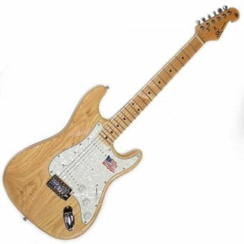 SX Electric Guitar SC USA Swamp Ash / Maple - Natural Gloss
