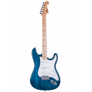 SX Electric Guitar SC USA Swamp Ash / Maple - Transparent Blue
