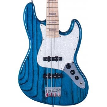 SX SJB75 Jazz Bass in Trans Blue