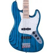 SX SJB75 Jazz Bass in Trans Blue