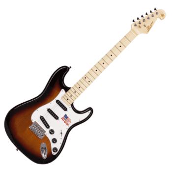 SX SST USA Alder Strat Style Electric Guitar, 3 Tone Sunburst