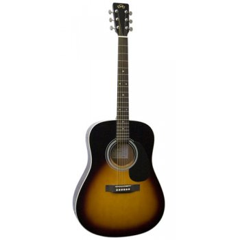 SX MD160 Dreadnought Acoustic Guitar (Vintage Sunburst)