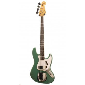 SX Vintage Series SJB62C+ Electric Bass Guitar JB Style - Vintage Green