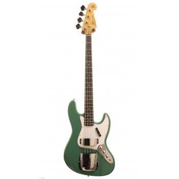 SX Vintage Series SJB62C+ Electric Bass Guitar JB Style - Vintage Green