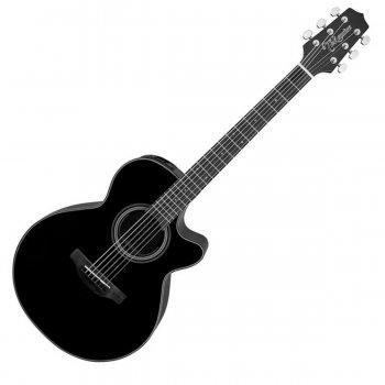 Takamine GF15CE-BLK Electro-Acoustic Guitar, Black