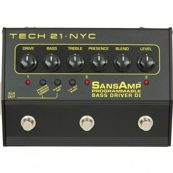 Tech 21 Sans Amp Programmable Bass Driver D.I.