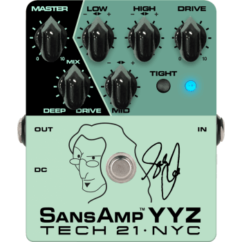Tech 21 YYZ Geddy Lee Signature Sansamp Bass Pedal