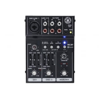 Topp Pro MX.3BT 3 Channel Mini Mixer With USB, EQ & Bluetooth
