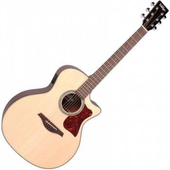 Vintage VGA900N Grand Auditorium Electro-Acoustic Guitar - Natural