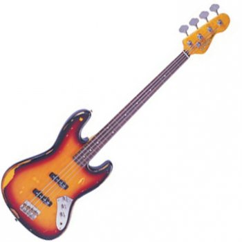 Vintage VJ96 Icon Fretless Jazz Bass
