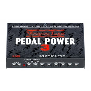 Voodoo Lab Pedal Power 3 Lightweight High Current International Voltage Guitar Pedal Power Supply