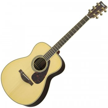 Yamaha LS6MARE Acoustic Guitar Mahogany In Natural Finish with Hard GigGag