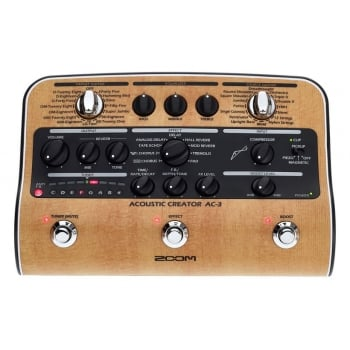 Zoom AC-3 Acoustic Creator Acoustic Guitar Effects Pedal