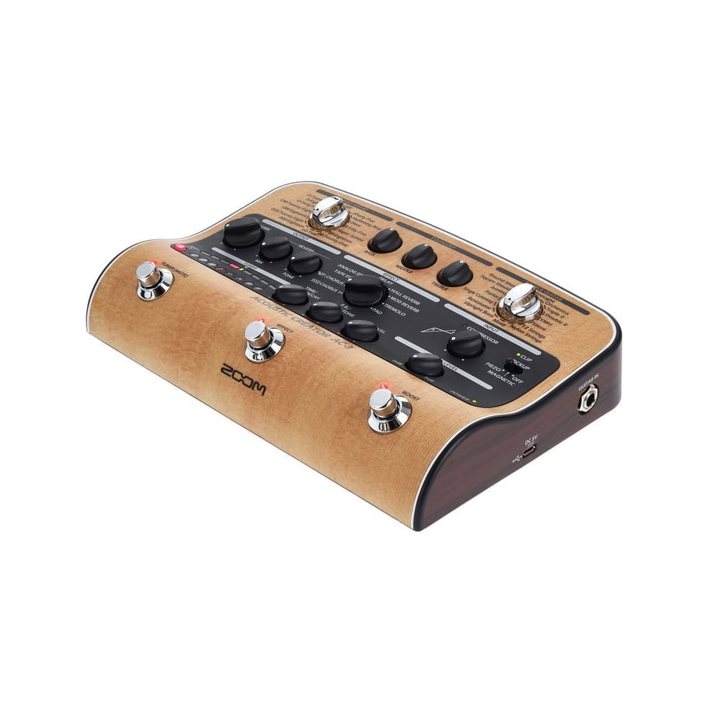 zoom ac 3 acoustic creator acoustic guitar effects pedal. Black Bedroom Furniture Sets. Home Design Ideas