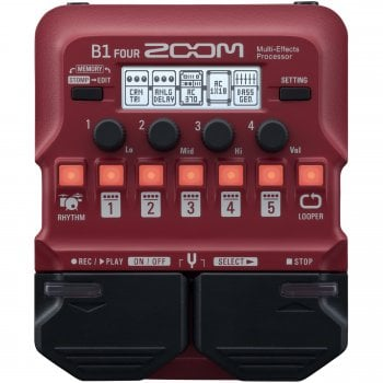 Zoom B1 FOUR Bass Guitar Multi-Effects Pedal