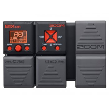 Zoom B1XON Bass Guitar Multi Effects Unit With Expression Pedal
