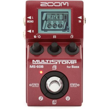 Zoom MS-60B MultiStomp Multi-Effect for Bass Guitar